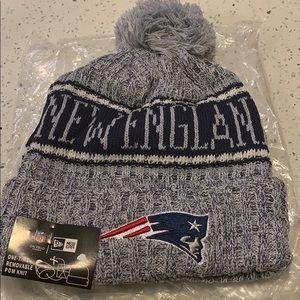 NFL New England Patriots Beanie Hat Gray